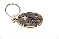 Брелок для ключей деревянный с резным логотипом Subaru (Субару)