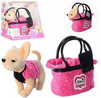 Собачка Кикки M 3651 RU интерактивная в сумочке (аналог Chi Chi Love)