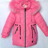 Зимняя куртка парка, пальто для девочек 6-10 лет, фото 1