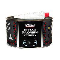 Шпатлевка Палитра металлик с алюминием 2 кг