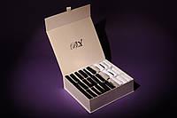 Элитный подарочный набор мужских носков в картонной коробке на 30 пар. Цвет - шампань