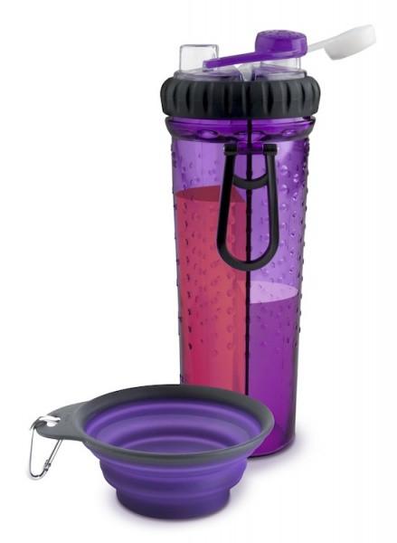 DEXAS H-DuO with Companion Cup 720 мл - бутылка двойная для воды с миской для собак и кошек