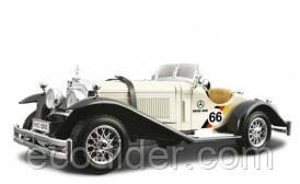 Автомодель - MERCEDES-BENZ TYP SSK (1928) (серебристый, 1:24), 3+