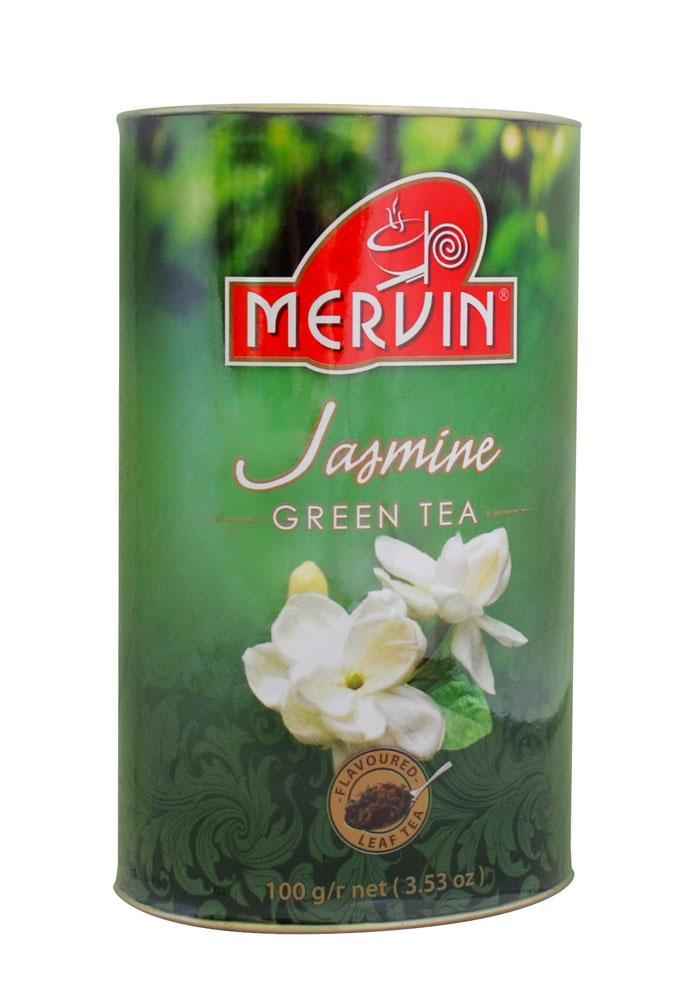 """Зеленый чай """"Цветок жасмина"""", Mervin, 100 г"""