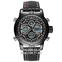 Часы военные AMST 3022 (Кварц) Black/Black, фото 1
