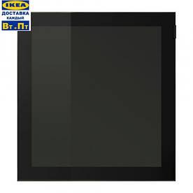 IKEA, GLASSVIK, Стеклянные двери, черные, стеклянные (90291660)(902.916.60) ГЛАСВИК, ГЛАССВИК, ГЛАСВІК, ИКЕА, ІКЕА, АЙКИА