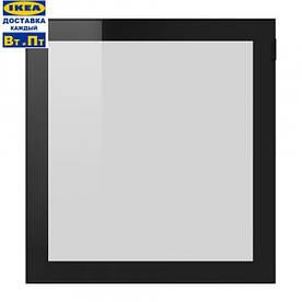 IKEA, GLASSVIK, Стеклянные двери, черное, прозрачное стекло (30291658)(302.916.58) ГЛАСВИК, ГЛАССВИК, ГЛАСВІК, ИКЕА, ІКЕА, АЙКИА