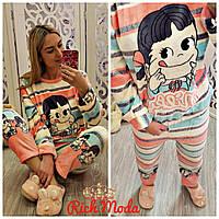 Теплая пижама фланель