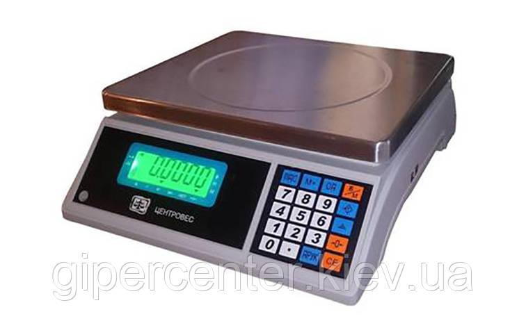 Весы счетные ВТЕ-Центровес-15-Т3С3 до 15 кг; дискретность 0,5 г, фото 2