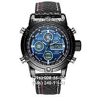 Часы военные AMST 3022 (Кварц) Black/Blue. , фото 1