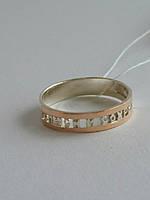 Серебряное кольцо с золотыми пластинами Спаси и сохрани (М) (арт.01-1001К)