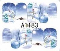 Зимний слайдер дизайн, 1 лист водных наклеек, Новый Год, Рождество А1183
