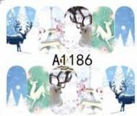 Зимний слайдер дизайн, 1 лист водных наклеек, Новый Год, Рождество А1186, фото 1