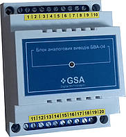 Блок аналоговых выводов БВА-04