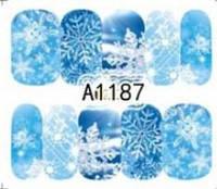 Зимний слайдер дизайн, 1 лист водных наклеек, Новый Год, Рождество А1187