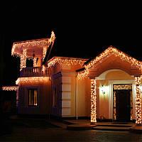 Новогодняя светодиодная уличная LED гирлянда 100 м желтая