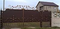 Ворота кованые с цветами  11960