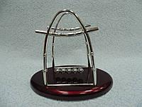 Сувенир маятник Ньютона на 5 шариков овальный размер 15*25*24