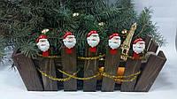 Ящик деревянный 320 х 190 мм Новогодний