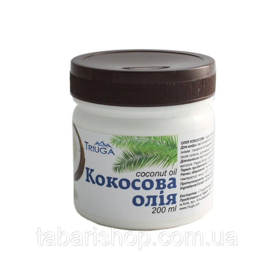 Кокосовое масло нерафинированное, Триюга, 100 мл