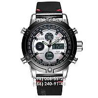Часы военные AMST 3022 (Кварц) Black/Silver/White., фото 1