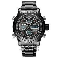 Часы военные AMST 3022 (Кварц) Black/Black steel., фото 1