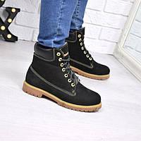 Ботинки Timberland женские зимние, натуральный нубук