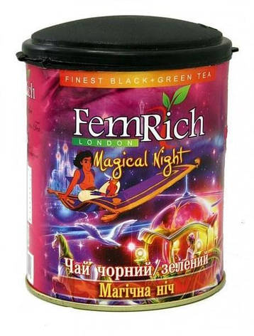 """Микс черного и зеленого чая """"Магическая ночь"""", FemRich, 75г, фото 2"""