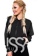 Ledi M Женская широкая курточка IS 3685 черный Леди М