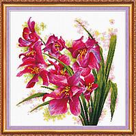 """Набор для вышивки крестом """"Лиловые орхидеи"""""""