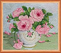 """Набор для вышивки крестом """"Розовые цветы"""""""