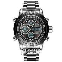 Часы военные AMST 3022 (Кварц) Silver/Black steel., фото 1