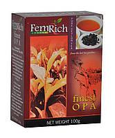 """Черный крупнолистовой чай """"Finest ОPА"""", FemRich, 100г"""