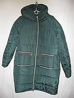 Куртка женская зимняя удлиненная батал (плащевка,синтепон) от склада оптом 7 км