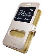 Золотистый чехол-книжка Nillkin с функцией подставки для Iphone 5/5S