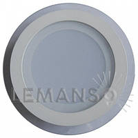 LED панель Lemanso 6W 400LM 4500K круг+стекло / LM431