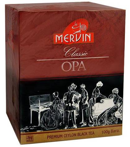 """Чёрный крупнолистовой чай """"OPA"""", Mervin, 100г, фото 2"""