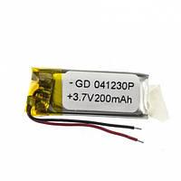Универсальный аккумулятор 3.7V 30х12х4 200mAh