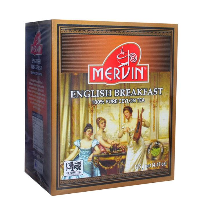 """Чёрный мелколистовой чай """"Английский завтрак"""", Mervin, 125г"""