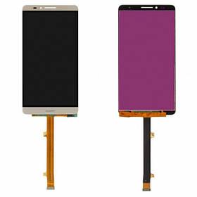 Дисплей (экран) для Huawei Mate 7 Ascend з сенсором (тачскріном) золотистый
