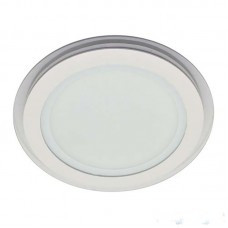 LED панель Lemanso 12W 840LM 4500K круг / LM432 + стекло