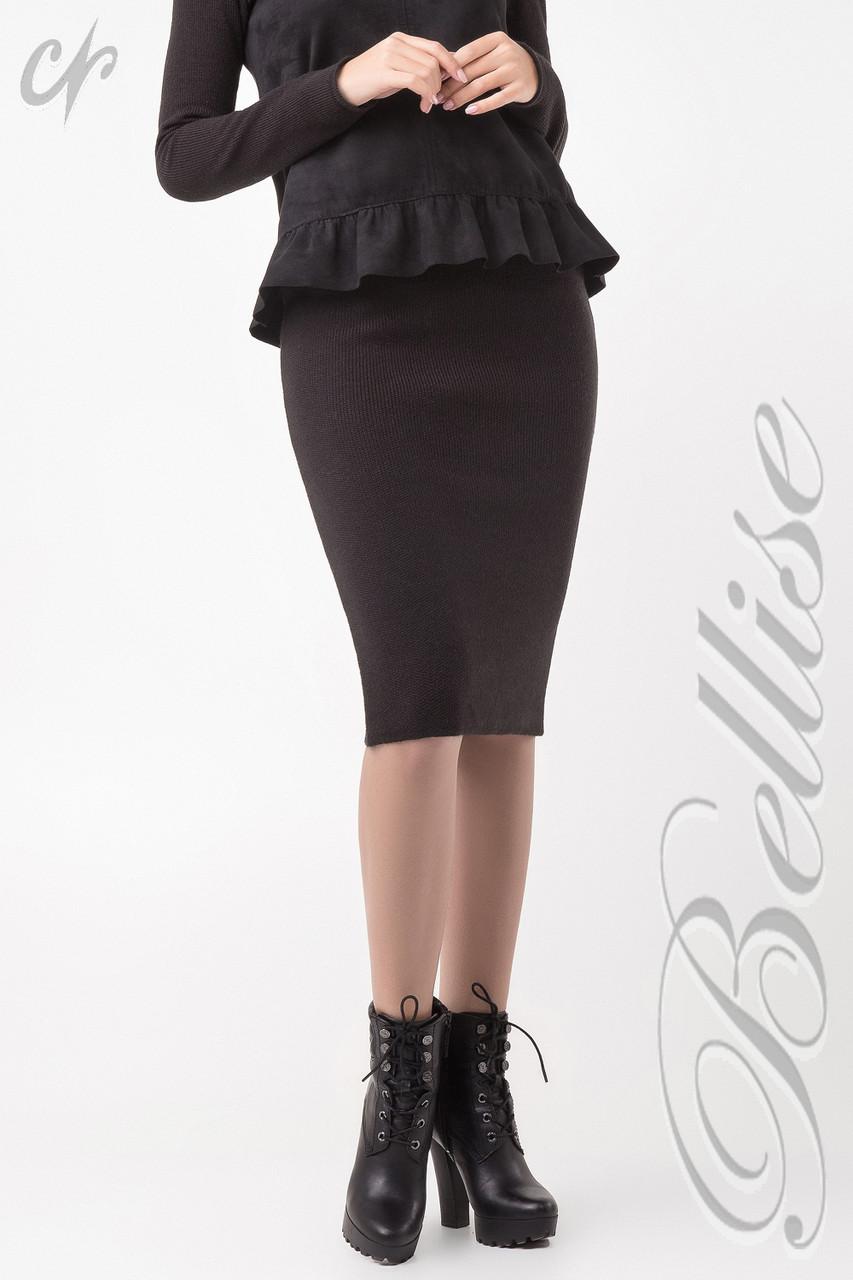 e76b7e7eab5 Тёплая женская вязаная юбка-карандаш цвета капучино - купить по ...