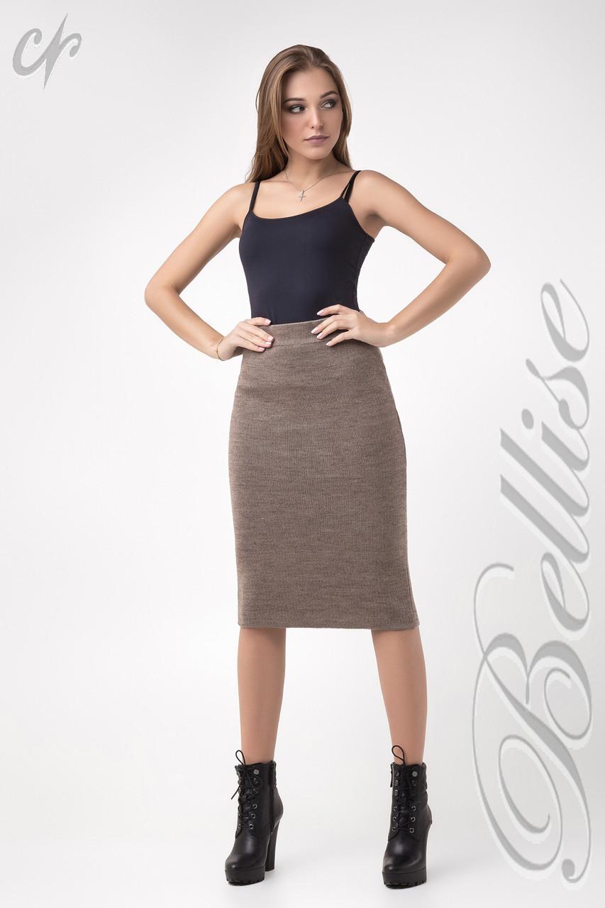 776a1cce1d7 Тёплая женская вязаная юбка-карандаш цвета капучино - Интернет-магазин  одежды