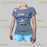 Женская футболка тельняшка