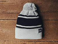 Зимняя шапка (с помпоном) Staff - Art. KS0058-1 (светло-серый | чёрный)