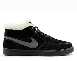 Зимние кроссовки с мехом Nike Blazed Mid Black Winter