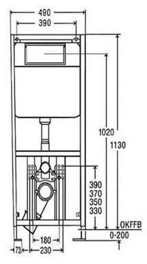 Модуль-бачок Еco Plus для унитаза 1130х490 Viega, фото 2