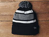 Зимняя шапка (с помпоном) Staff - Art. KS0075 (чёрный | серый | белый)