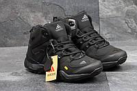 Ботинки мужские на меху  Adidas Terrex 455 (черные), ТОП-реплика, фото 1