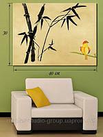 Картина 30х40см, Птичка в бамбуковой роще, Киев